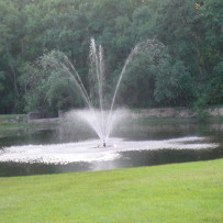 Pond Fountain Out of Service for One Week