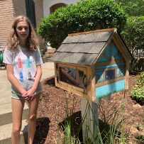Visit the new Little Free Library at the Clubhouse